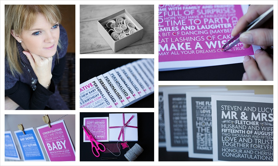 Personalised handmade cards and invitations by Pink Ink Creative