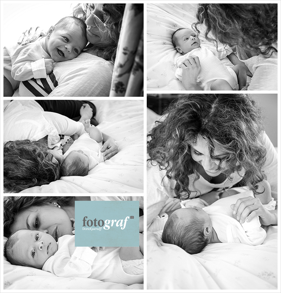 Lifestyle photography at home with mum and baby