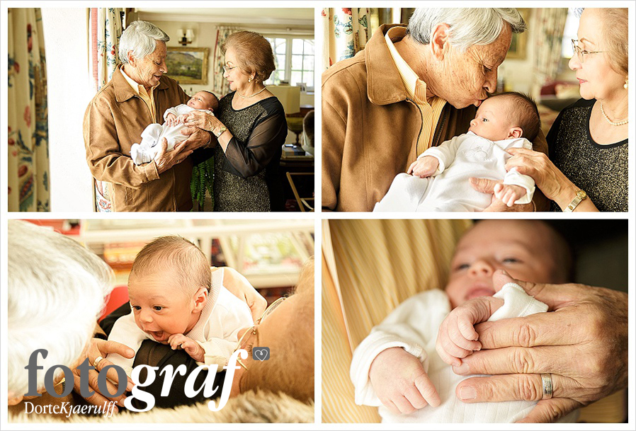 Baby lifestyle photography with grandparents