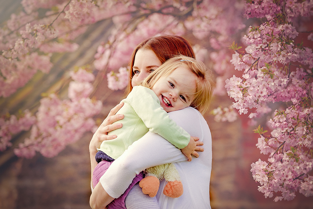 Cherry blossom family photography