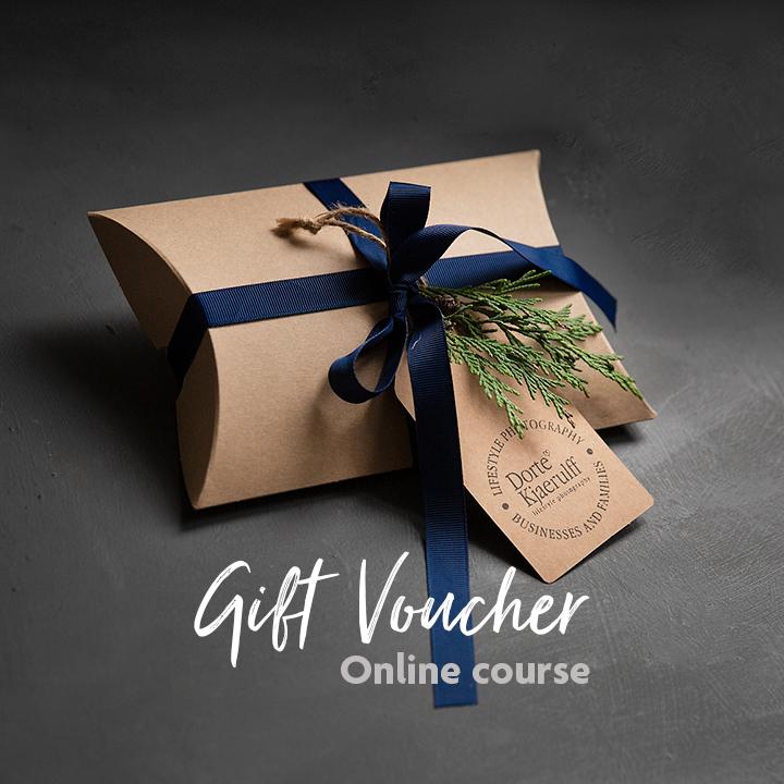 Photo shoot gift voucher